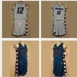 Depaul Blue Demons Basketball Uniform Boys Med